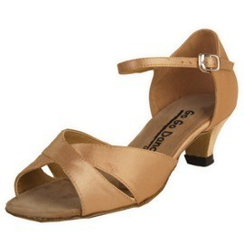 GOGO / Stephanie Dance Shoes GO7210-Ballroom Shoes 1.3'' Suede Sole-TAN SATIN