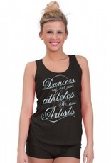 Heart & Soul DA664-Black loose fit tank top-BLACK