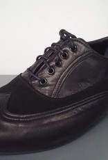 Anatomica 200-Ballroom Men Shoes Suede Sole-LEATHER/SUEDE NERO