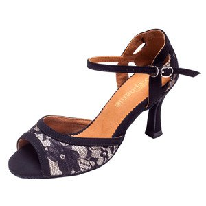 GOGO / Stephanie Dance Shoes 2092-15-Ballroom Shoes 2.5'' Suede Sole-BLACK NUBUCK