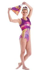 MotionWear 1285-Gym thank leotard-PURPLE