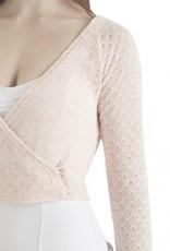 Capezio CK1039W-Cropped Crossover Sweater-SORBET