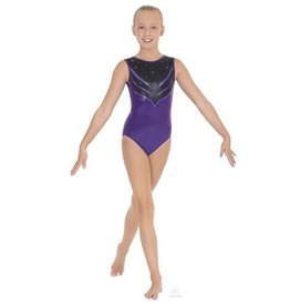 Eurotard 3219C-Tiger eyes Gym Leotard Child-PURPLE