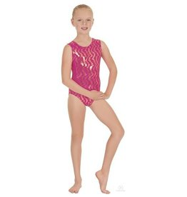 Eurotard 3215C-Holographic Waves Gym Leotard-CHERRY