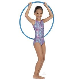 Eurotard 2389-Kaleidoscope Gym Leotard Child-PURPLE