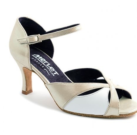 "Merlet SAPHIR-Ballroom Shoes 2.5"" Suede Sole Morgan Leather-BEIGE"