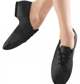 Bloch S0405G-Child Jazzsoft Leather shoes With Split Sole-BLACK
