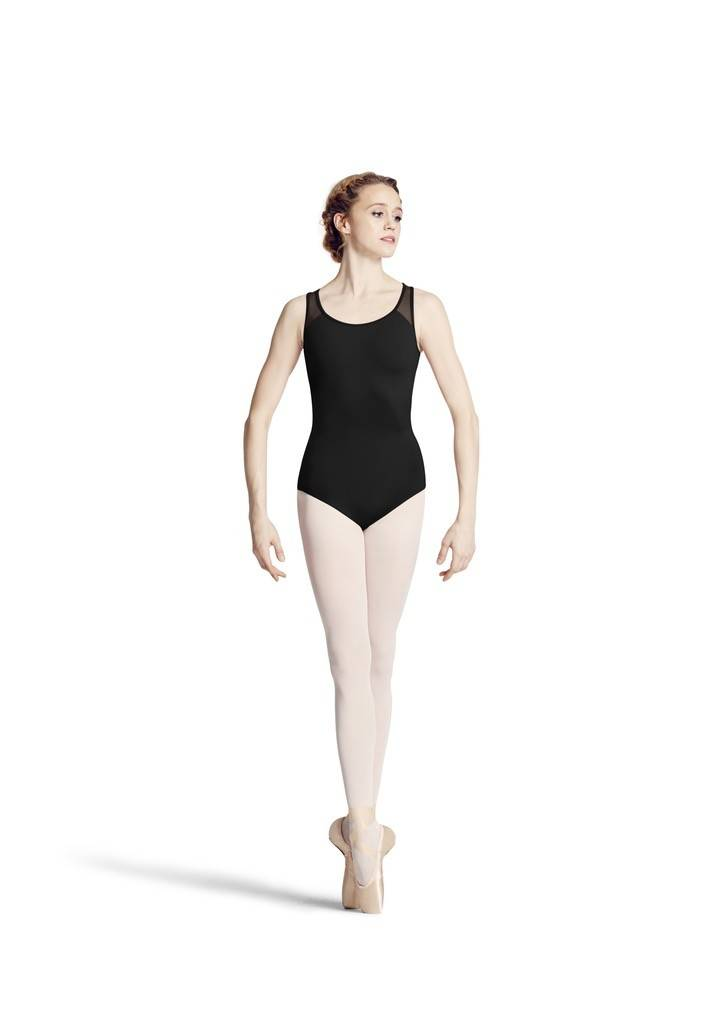 Bloch L8805-Tank Leotard With PowerMesh-BLACK