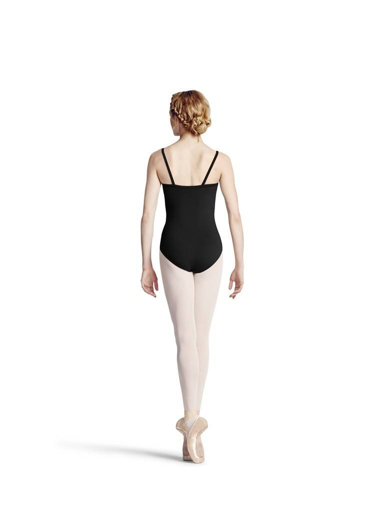 Bloch L8827-Camisole Leotard With Power Mesh-BLACK
