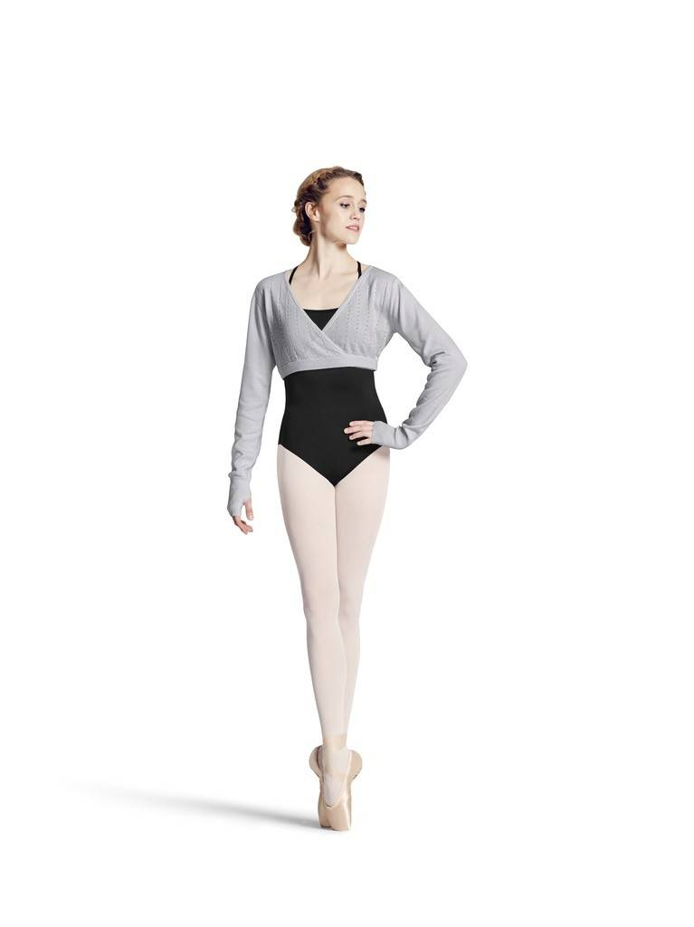 Bloch Z6919-AQUARI Wrap long sleeve Sweater-GREY