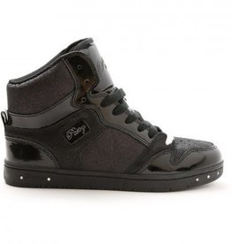 Pastry Dance 152004-Glam Pie Glitter Dance Sneakers-BLACK