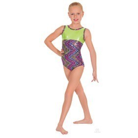 Eurotard 54550-Dizzy Dots Gym Leotard-FUCHSIA
