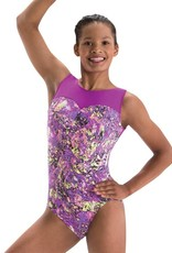 MotionWear 1284-Gym Sweetheart Front Tank Leo-PURPLE RAIN,
