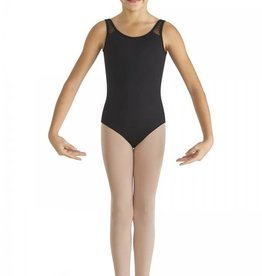 Bloch CL8665-Heart Mesh Back Band Tank Leotard-BLACK