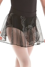 MotionWear 1011-203-Pull-On Warp Skirt-BLACK