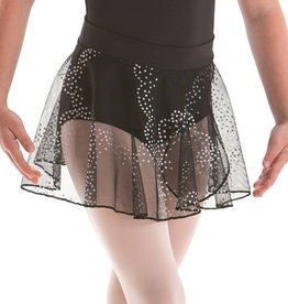 MotionWear 1011-203-Pull-On Warp Skirt-BLACK
