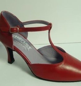 "Merlet NINA-Balleroom Shoes 2.5"" Suede Sole Metis Leather-CHERRY"