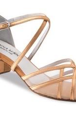 "Anna Kern 520-35-Ballroom Shoes 1.5"" Suede Sole-SATIN BRONZE"