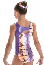 MotionWear 1386-Gym Cross Over Keyhole Back leo-HORIZON