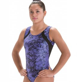 MotionWear 1198-Gym Racer Front Tank leo-PURPLE