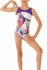 Mondor 27846-Gym Tank leotard-FLOWER