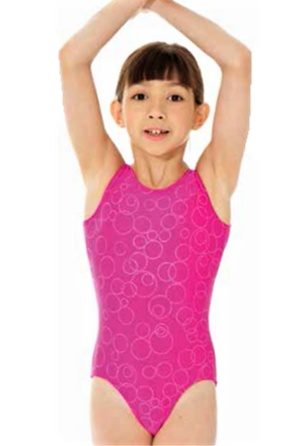 Mondor 17822-Gym Tank leotard-PINK
