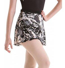 MotionWear 1021-011-Print Warp Skirt-BLK/GRAY/WHT-MA