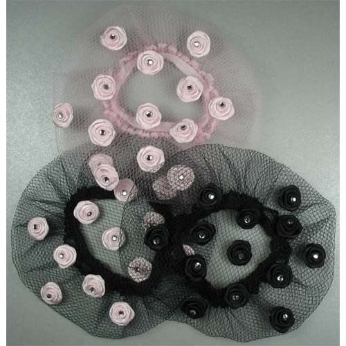 Dasha 2110-Bun Cover With PINK ROSES-ONE SIZE