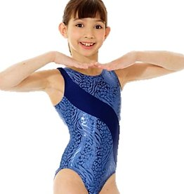 Mondor 17831-Gym Tank Leotard-STEEL BLUE