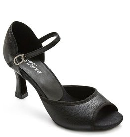 SoDanca BL170-Radha Ballroom Shoes 2.5'' Suede Sole-BLACK LEATHER
