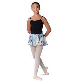 Danshuz 2609C-Blue Feather/Leopard Print Skirt Child
