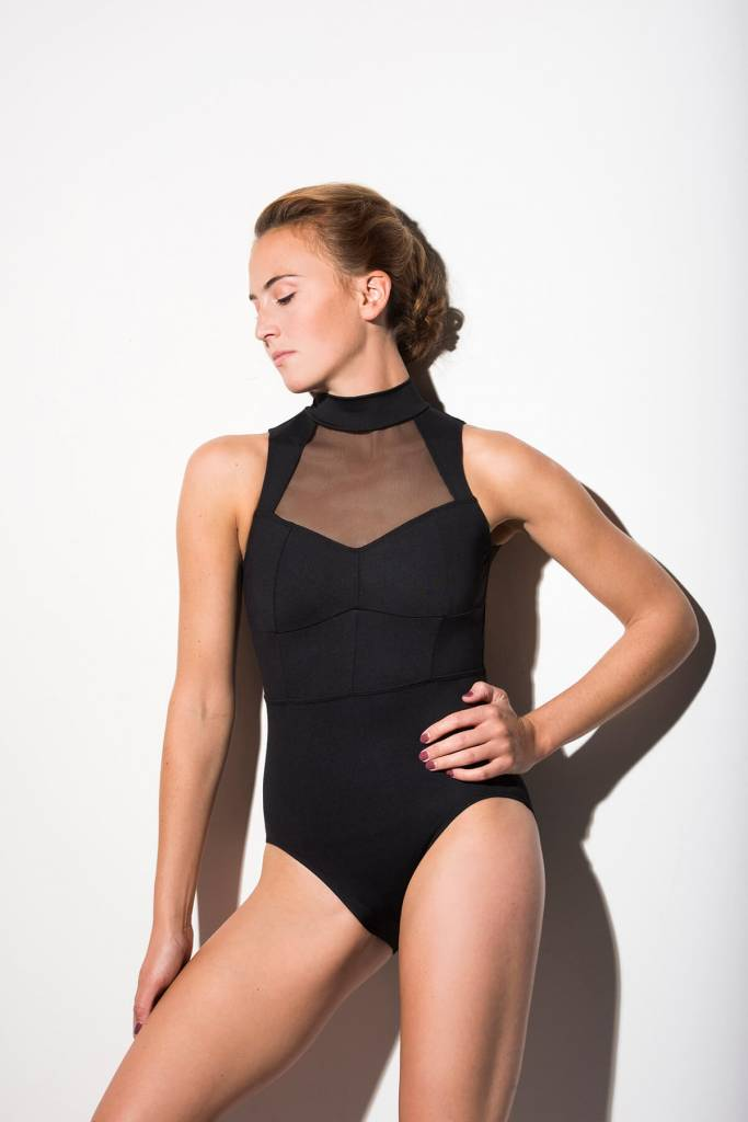 AinslieWear 1025ME-Collette Leotard With Mesh