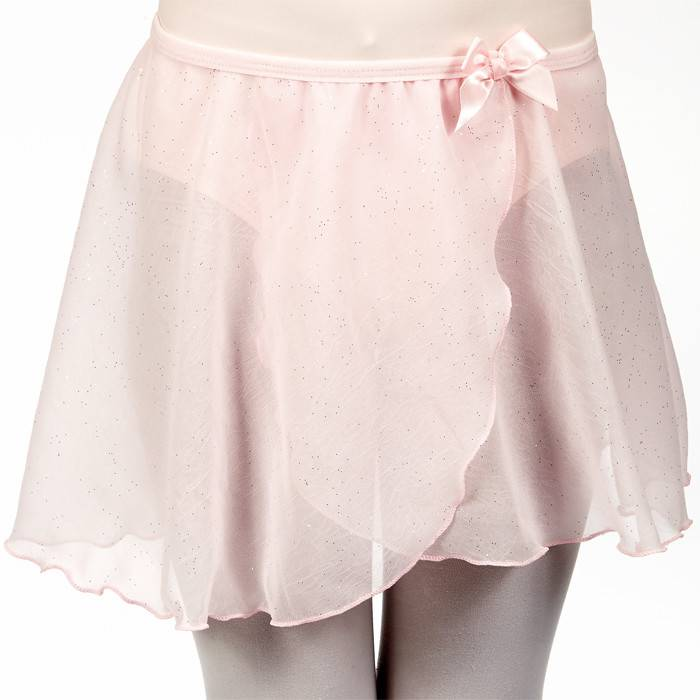 Dasha 4433P-Child Crinkle Glitter Skirt-PINK