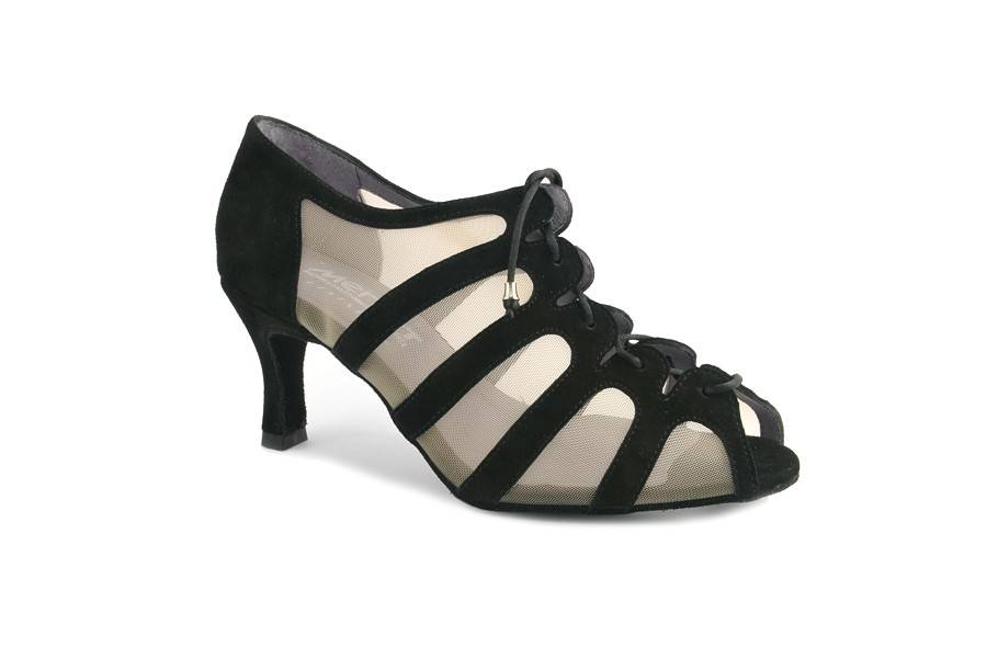 "Merlet SYA-Ballroom Shoes 2.5"" Suede Sole-SUEDE BLACK"