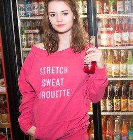 Covet Dance SSP-TNC-Sueded Tunic Sweatshirt-PINK
