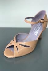 "Merlet SAPHIR-Ballroom Shoes 2.5"" Suede Sole-TAN LEATHER"