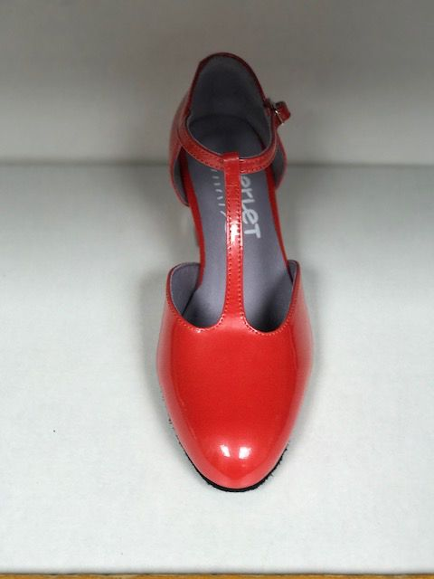 "Merlet EVA-Ballroom Shoes 1.7"" Suede Sole Liquido Leather-CORAL"