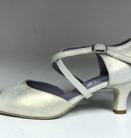 Merlet DALIA-Ballroom Shoes 2'' Suede Sole Palveroso Leather-CHAMPAGNE