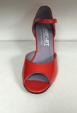 "Merlet SALIME-Ballroom Shoes 2.5"" Suede Sole Liquido Leather-CORAL"