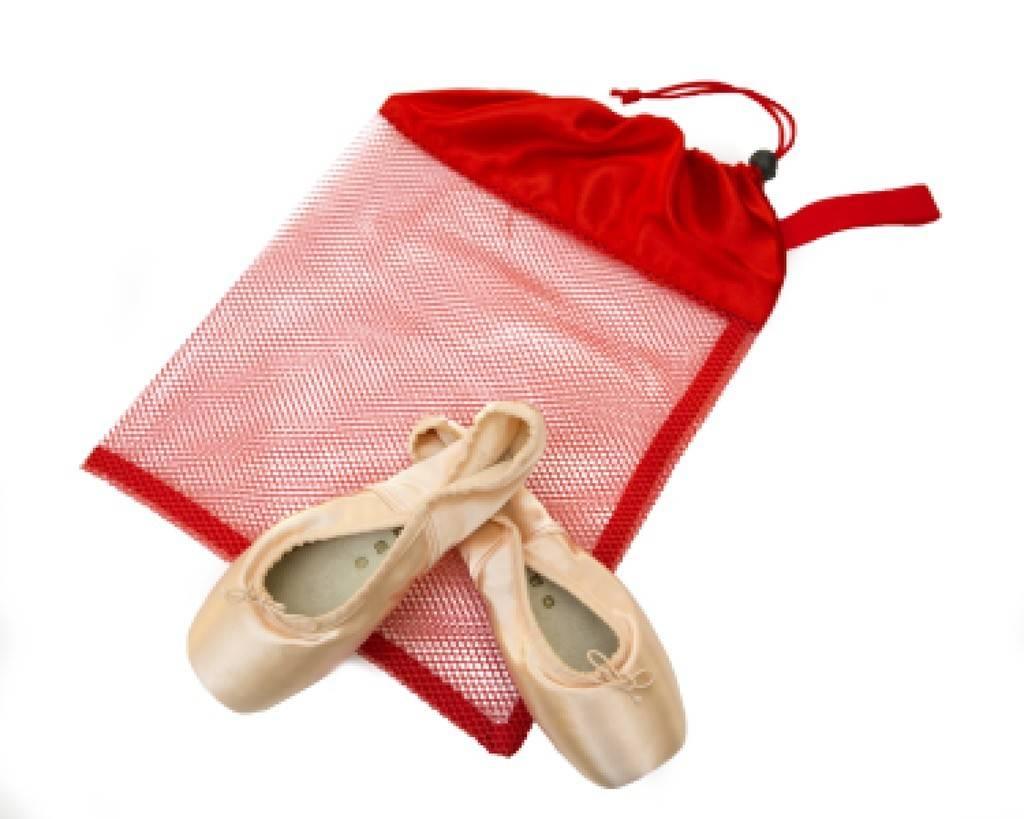 Horizon Dance HD-8228-Mesh Pointe Shoe Bag Red