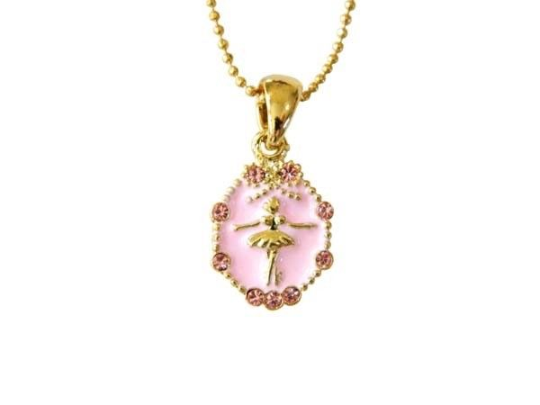 American Dance Supply 503S-Ballerina necklace-PINK-SMALL