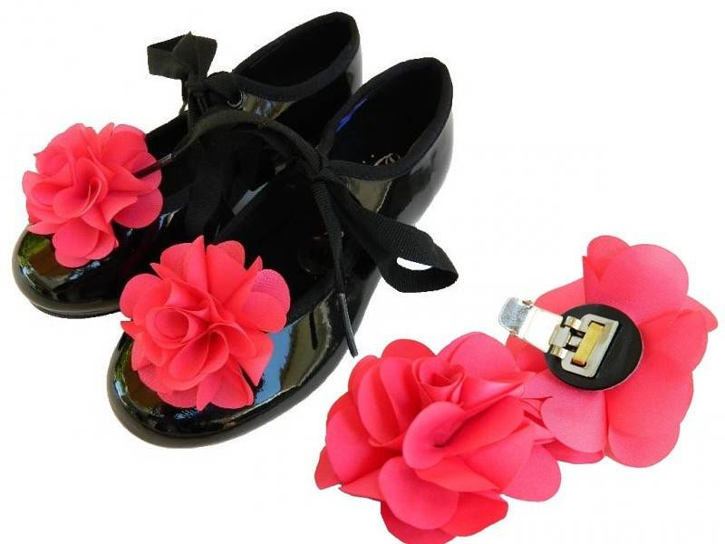 American Dance Supply ADS901-Shoe Clip-Red-Flower