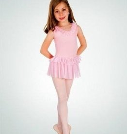 BodyWrappers 2400-Dance Dress-WHITE-6X7 CHILD