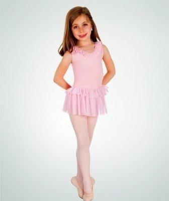 BodyWrappers 2400-Dance Dress-WHITE-6X7 CHILD