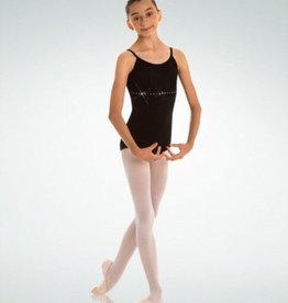 BodyWrappers 2410-Cami Leotard-BLACK-MEDIUM CHILD