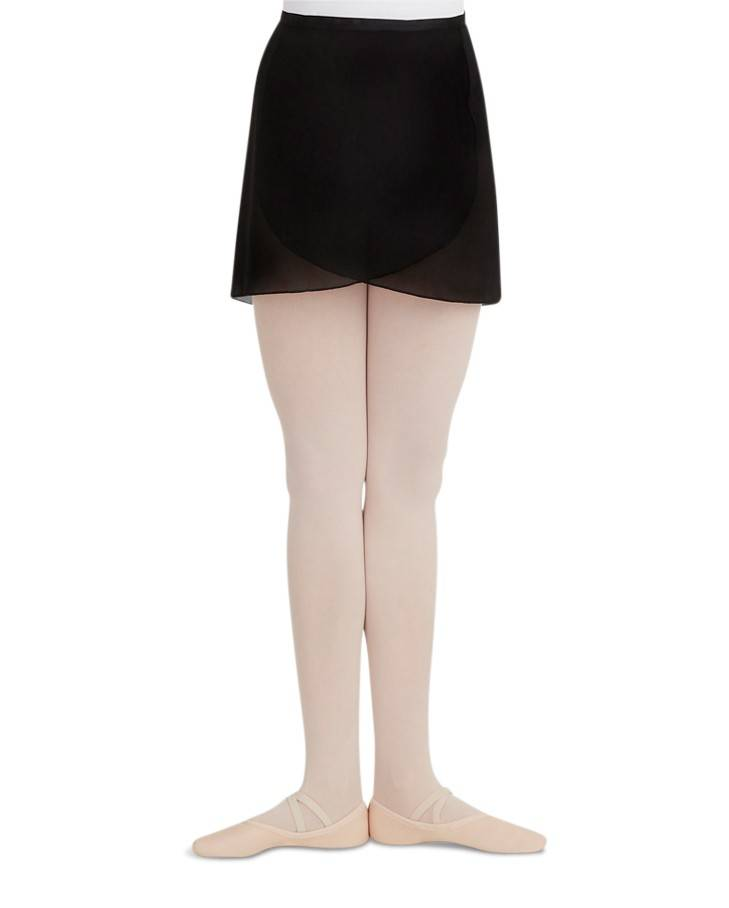 Capezio N272-Georgette Wrap Skirt-BLACK