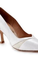 "Capezio BR309-Ballroom Shoes 2.5"" Suede Sole-WHP-7.5"