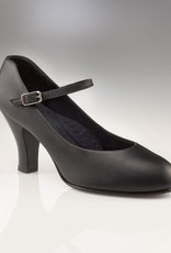 "Capezio 656-Theatrical Footlight Shoes 3""-BLACK-6.5M"