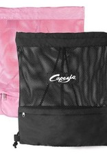 Capezio B57-Pink Mesh Backpack Shoe Bag