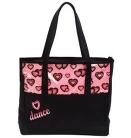 Dasha 4942-Glitter Hearts Dance Tote